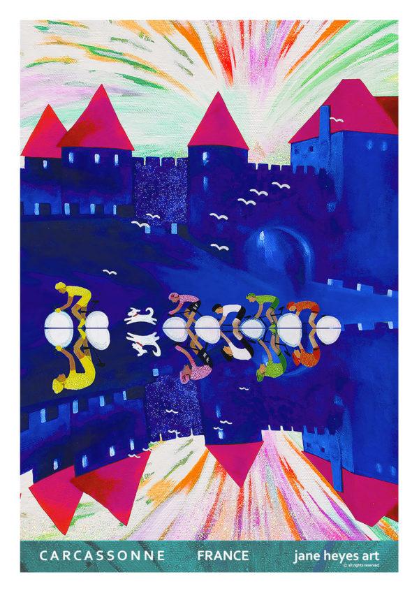 Jane Heyes Art Peintre Carcassonne Artist A4 TOUR 14TH JULY FINAL copy