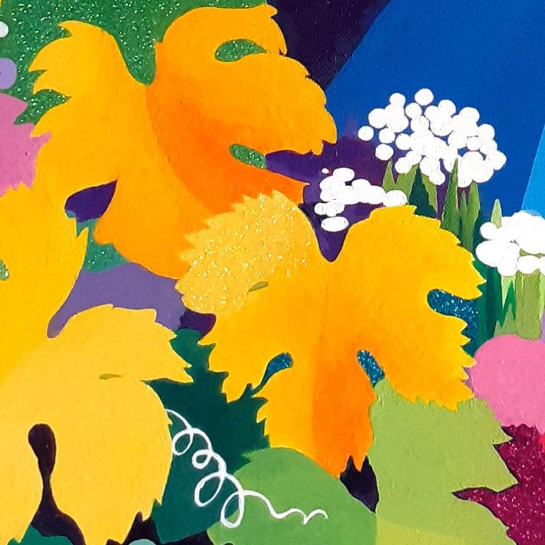Jane Heyes Art Peintre Carcassonne Artist Close up vine leaves