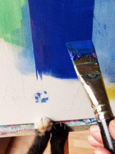Jane Heyes Art Peintre Carcassonne Artist Mavis painting ref