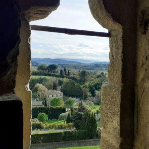 Jane Heyes Art Peintre Carcassonne Artist Ramparts window inspiratiion view