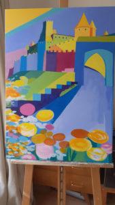 Jane Heyes Art Peintre Carcassonne Artist Work in progress Spring