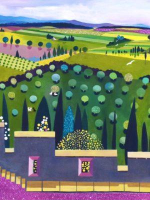 Ramparts 100x70 s Jane Heyes Art Carcassonne South of France prints