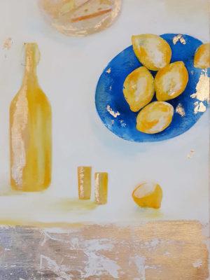 Limoncello gold and yellow 50 x 70cm copy Jane Heyes Art