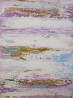 Jane Heyes Art Soft stripe Pink Lilac Blue 50x70
