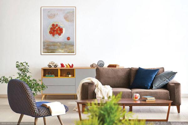 apricots carcassonne print jane heyes art